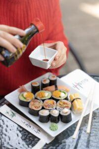 szójaszóst sushival