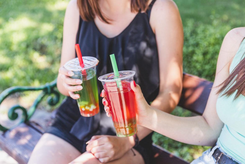 Bubble tea - zöldalma, 3dl